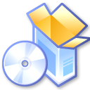 box, cd, software icon