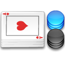 cards, chips, poker icon