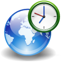 clock, earth, internet, world icon