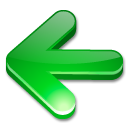 arrow, green icon