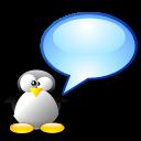 chat, penguin, tux