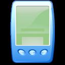 blue, pda icon