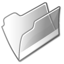 folder, grey, open icon
