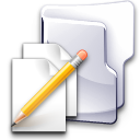 documents, folder, pen, write icon