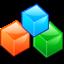 block, blocks, boxes, modules icon