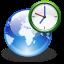 clock, earth, internet, world icon
