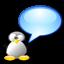 chat, penguin, tux icon