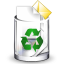 full, recycle bin, trashcan icon