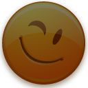 dimmed, invisible, smiley icon