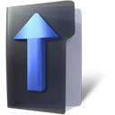 arrow, folder, up icon