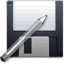 disk, floppy, guardar, pen, save, save as, write icon
