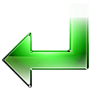 arrow, back, green, left, return icon