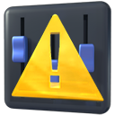 error, kmixdocked icon