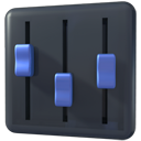 mixer, player, volume icon