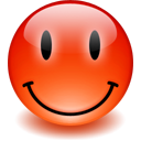 happy, red, smiley icon