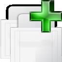 New, raised, tab icon