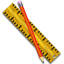 measure, pen, ruler icon