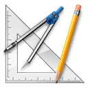 design, geometry, graphics, measure, package, ruler, school icon