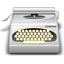 typewriter, wordprocessing icon