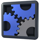 execute, gears, panel, settings, utilities icon