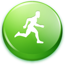 green, man, running icon