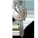 key, lock, password