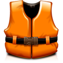 help, life vest, orange, rescue, support icon