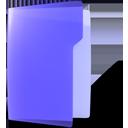 folder, open, violet icon