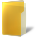 folder, open, yellow icon