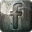 engraved, facebook, grunge, highlight, metal, social media icon