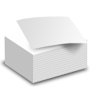 documents, papers, pile icon