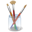 brush, color, design, draw, drawing, paint icon