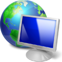 browser, computer, earth, internet, monitor, pc, screen, web icon