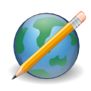 browser, cms, earth, edit, pencil, world, write