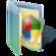folder, shield, windows icon