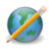 browser, cms, earth, edit, pencil, world, write icon