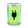 battery, plugged icon