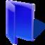 blue, folder, open icon