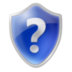 blue, help, question mark, shield icon