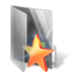 bookmark, folder, star icon