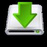 arrow, disk, download icon