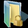 hacker, locked folder icon