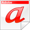 a, adobe, font, letter, type icon