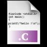 c, file, source icon