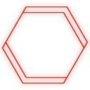 empty, hex, r icon