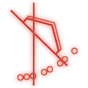 r, thrust icon