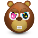 angry, bear icon