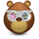 bear, shades icon