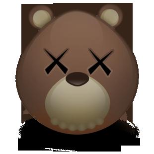 bear, kaws icon