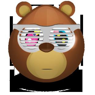 bear, shades icon